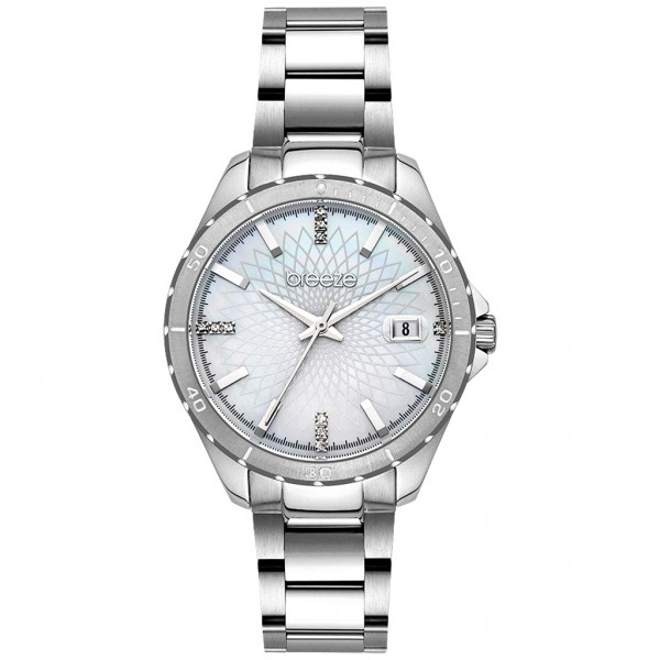 BREEZE MantaRay 612141.1 Crystals Silver Stainless Steel Bracelet