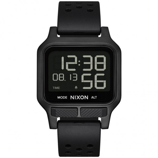 NIXON Heat A1320-001-00 Black Rubber Strap