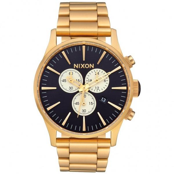 NIXON Sentry A386-2033-00 Chrono Gold Stainless Steel Bracelet
