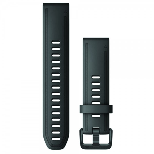 GARMIN Λουράκι QuickFit 20 Black Silicone Fenix 6S 010-12867-00