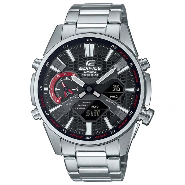 CASIO Edifice ECB-S100D-1AEF Smartphone Link Silver Stainless Steel Bracelet