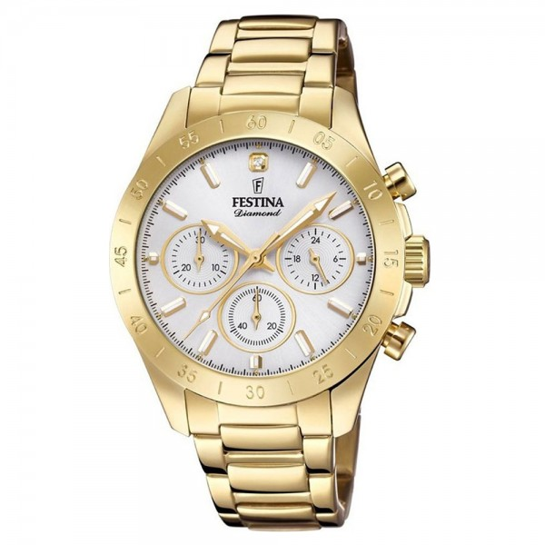 FESTINA Boyfriend F20400/1 Chronograph Diamond Gold Stainless Steel Bracelet