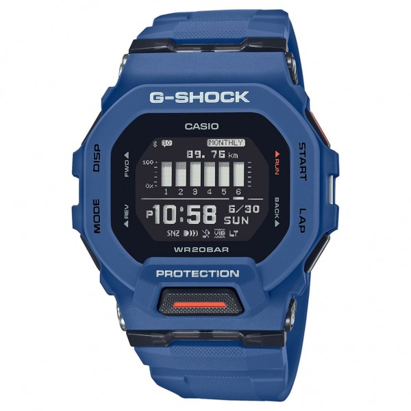 CASIO G-Shock Smartwatch GBD-200-2ER Blue Rubber Strap