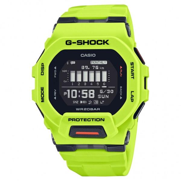 CASIO G-Shock Smartwatch GBD-200-9ER Yellow Rubber Strap