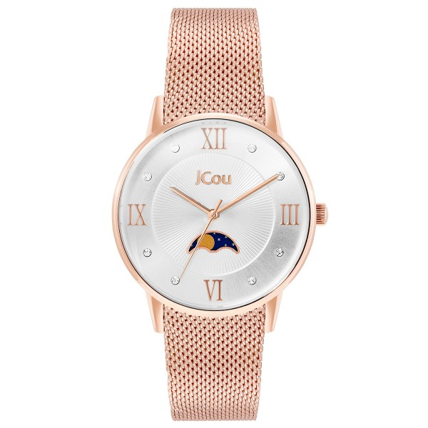 JCOU Cynthia JU19007-3 Crystals Rose Gold Stainless Steel Bracelet