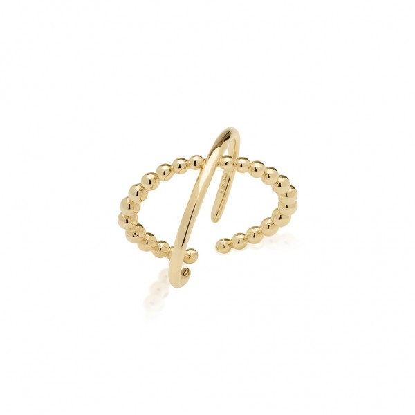 JCOU The Dots Ring Silver 925° Gold Plated 14K JW900G0-01