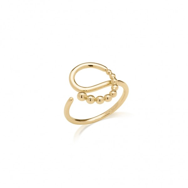 JCOU The Dots Ring Silver 925° Gold Plated 14K JW900G0-02