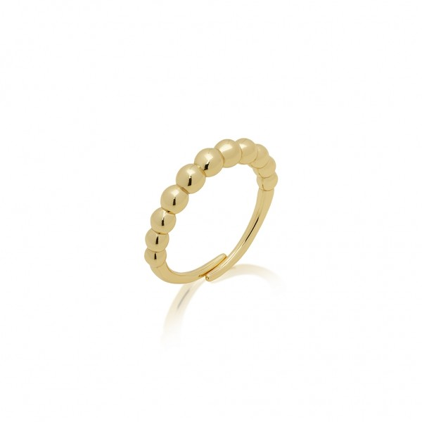 JCOU The Dots Ring Silver 925° Gold Plated 14K JW900G0-04