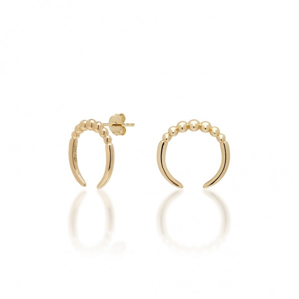 JCOU The Dots Earring Silver 925° Gold Plated 14K JW900G4-02