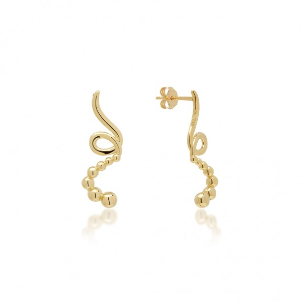 JCOU The Dots Earring Silver 925° Gold Plated 14K JW900G4-03