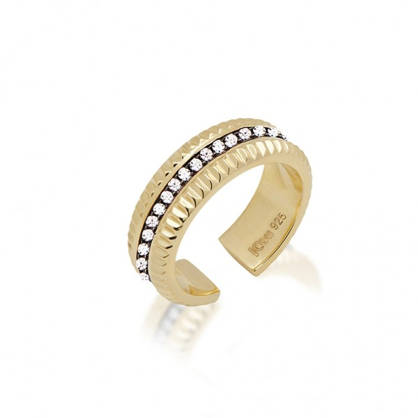 JCOU Queen's Ring Silver 925° Gold Plated 14K JW903G0-01