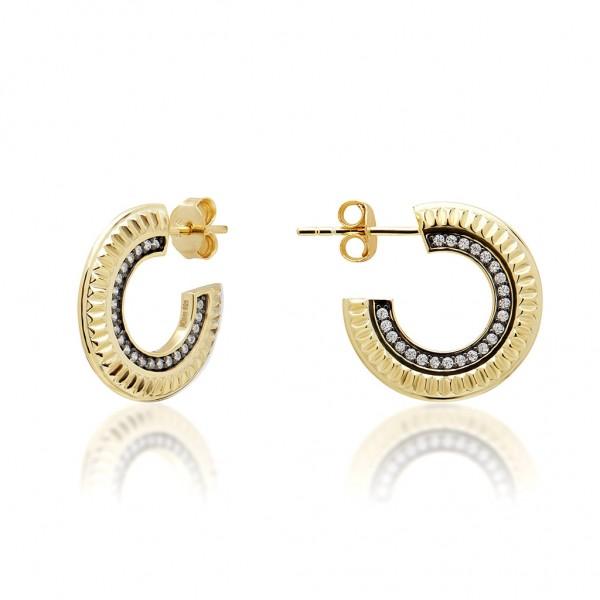JCOU Queen's Earring Silver 925° Gold Plated 14K JW903G4-01