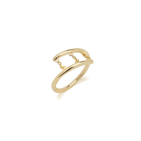 JCOU Chains Ring Silver 925° Gold Plated 14K JW904G0-01