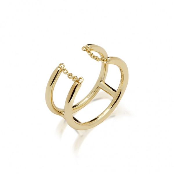 JCOU Chains Ring Silver 925° Gold Plated 14K JW904G0-03