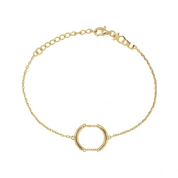 JCOU Chains Bracelet Silver 925° Gold Plated 14K JW904G2-01