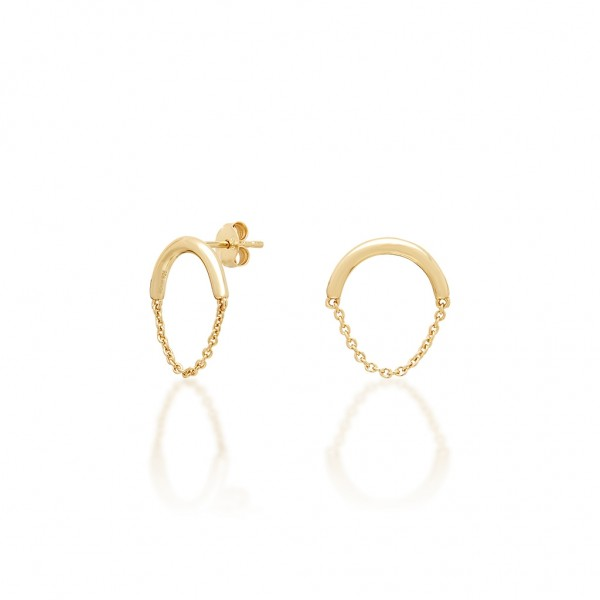 JCOU Chains Earring Silver 925° Gold Plated 14K JW904G4-01