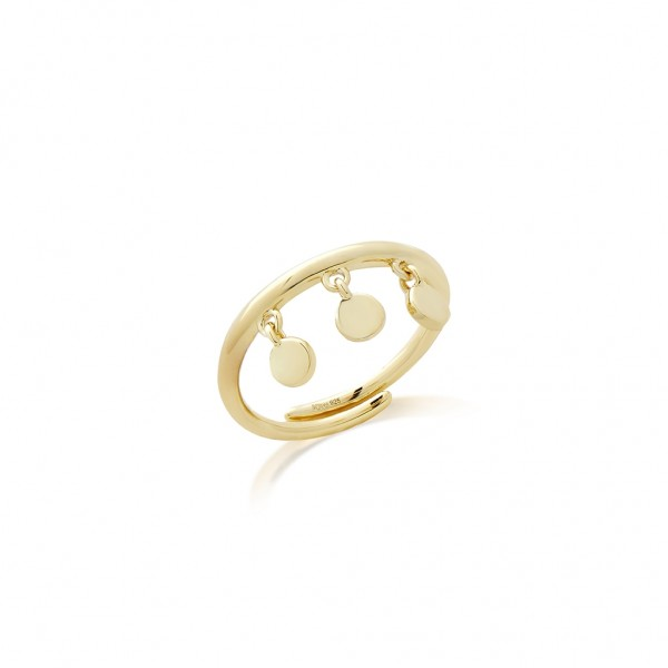 JCOU Coins Ring Silver 925° Gold Plated 14K JW905G0-01