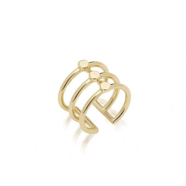 JCOU Coins Ring Silver 925° Gold Plated 14K JW905G0-03