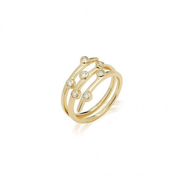 JCOU Round Minimal Ring Silver 925° Gold Plated 14K JW906G0-02