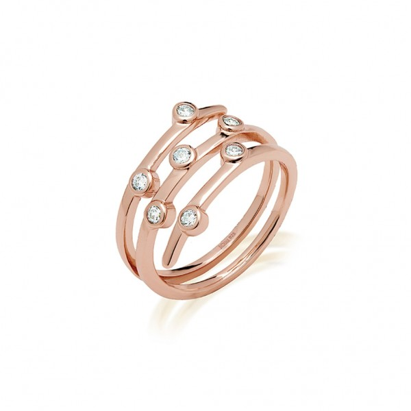 JCOU Round Minimal Ring Silver 925° Rose Gold Plated JW906R0-02