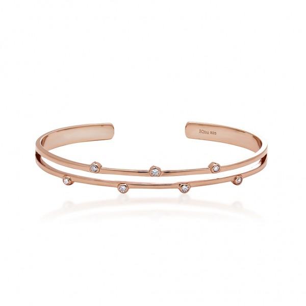 JCOU Round Minimal Bracelet Silver 925° Rose Gold Plated JW906R3-01