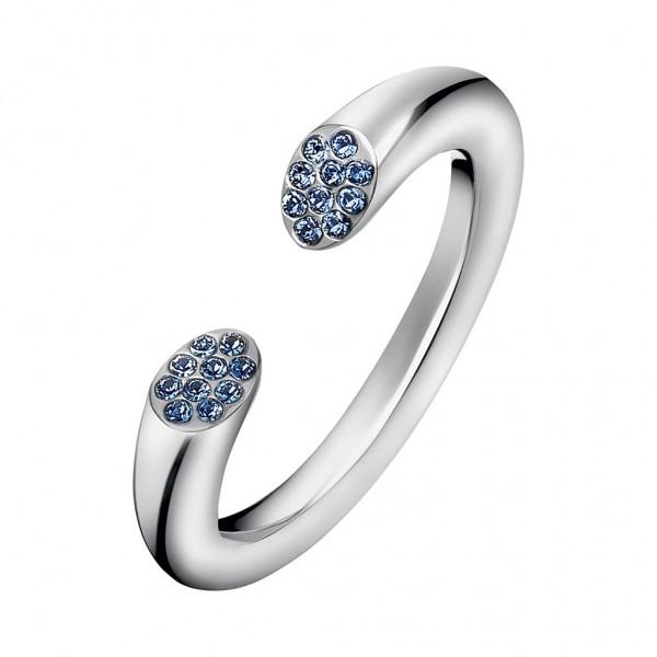 CALVIN KLEIN Brilliant Ring Blue Crystals - Silver Stainless Steel KJ8YMR040208