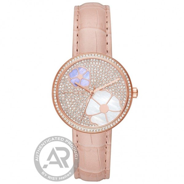 MICHAEL KORS Courtney MK2718 Crystals Pink Leather Strap