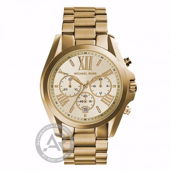 MICHAEL KORS Bradshaw MK5605 Chronograph Gold Stainless Steel Bracelet