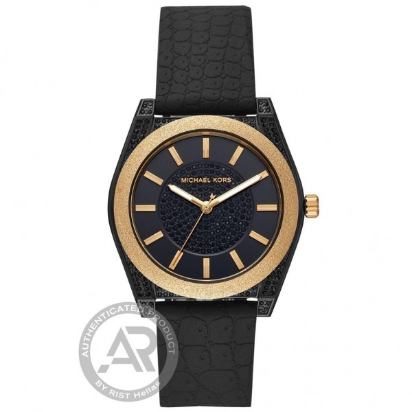 MICHAEL KORS Channing MK6703 Crystals Black Silicone Strap