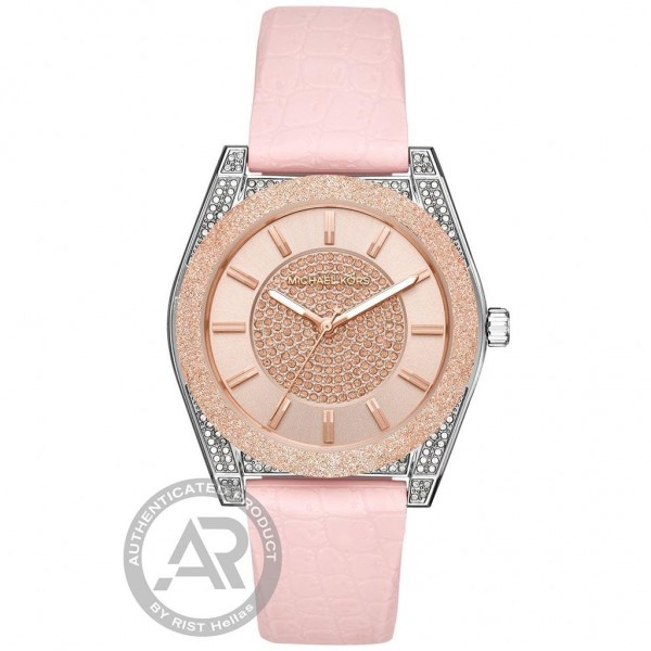 MICHAEL KORS Channing MK6704 Crystals Pink Silicone Strap