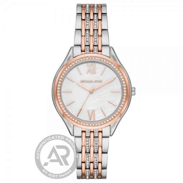 MICHAEL KORS Mindy MK7077 Crystals Two Tone Stainless Steel Bracelet