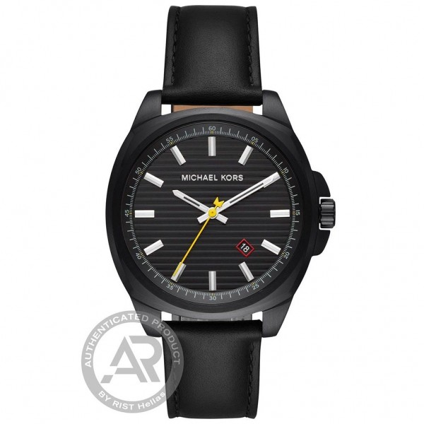 MICHAEL KORS Bryson MK8632 Black Leather Strap