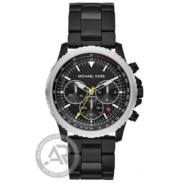 MICHAEL KORS Cortlandt MK8643 Chrono Black Stainless Steel Bracelet