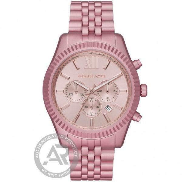 MICHAEL KORS Lexington MK8792 Chrono Pink Aluminium Bracelet
