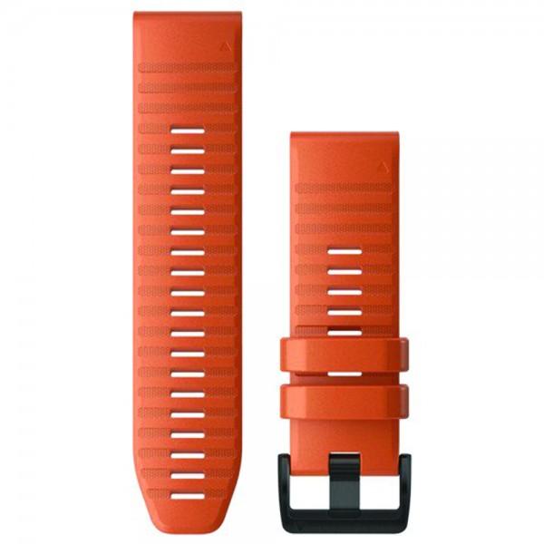 GARMIN Λουράκι QuickFit 26 Ember Orange Silicone Fenix 6X 010-12864-01