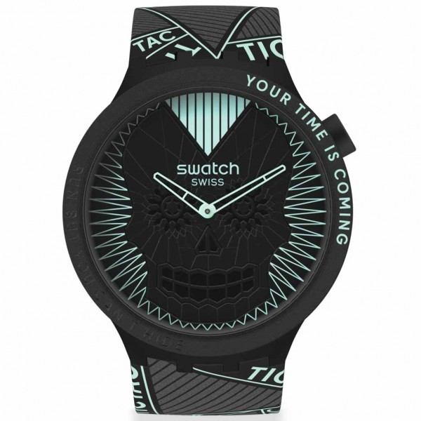 SWATCH Run But You Can't Hide SB01B129 Black Silicone Strap