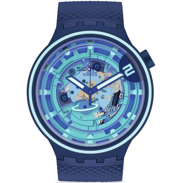 SWATCH Second Home SB01N101 Blue Silicone Strap