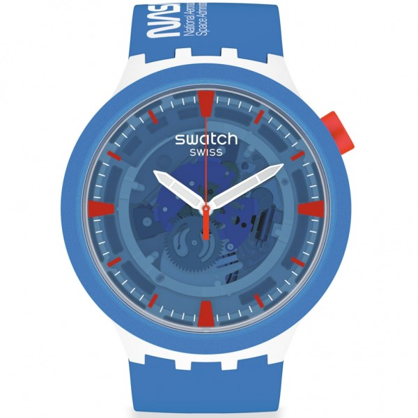SWATCH Jumpsuit SB03Z100 Bioceramic Case - Blue Silicone Strap