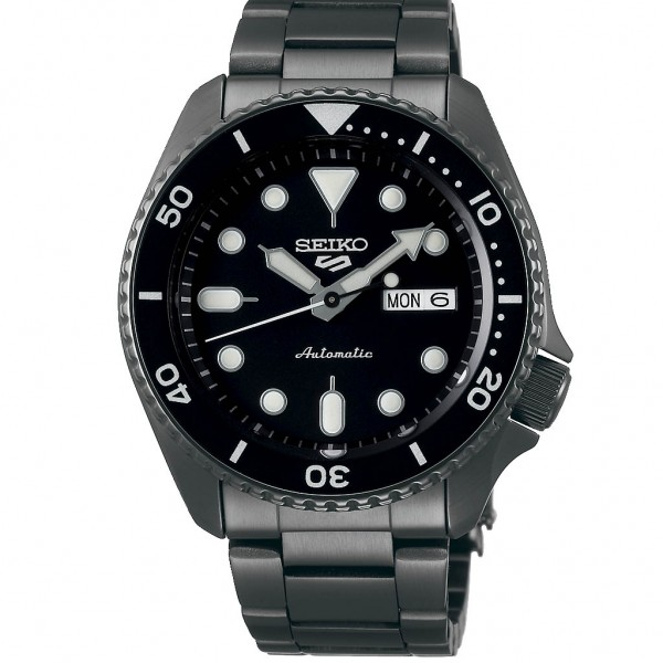 SEIKO 5 Sports Automatic SRPD65K1F Grey Stainless Steel Bracelet