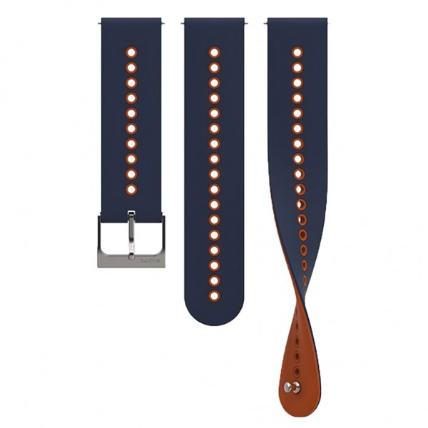 SUUNTO Watch Bands Urban 4 Granite Blue - Orange Silicone 22mm SS050698000