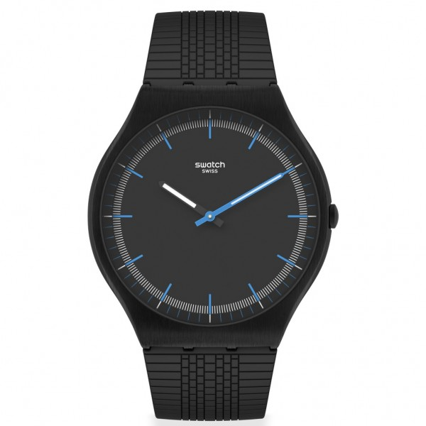 SWATCH Success Road SS07B103 Black Silicone Strap