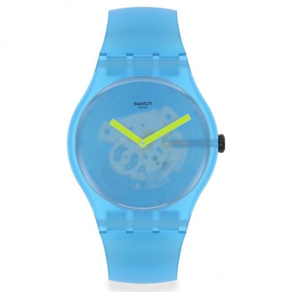 SWATCH Ocean Blur SUOS112 Light Blue Silicone Strap