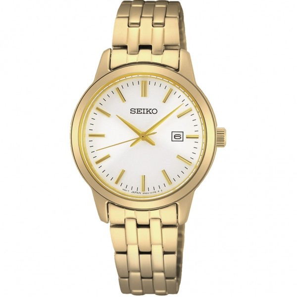 SEIKO Essential Time Lady SUR412P1 Gold Stainless Steel Bracelet