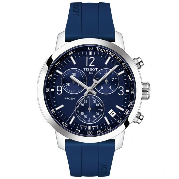 TISSOT T-Sport PRC 200 Chronograph Blue Silicone Strap T1144171704700