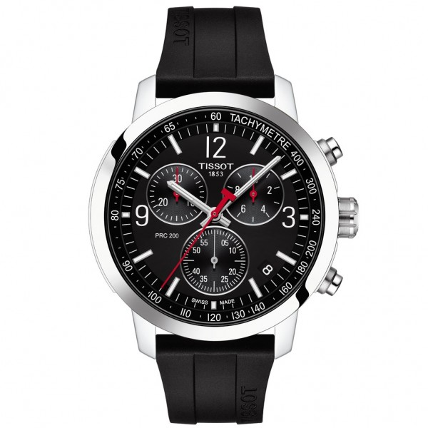 TISSOT T-Sport PRC 200 Chronograph Black Silicone Strap T1144171705700