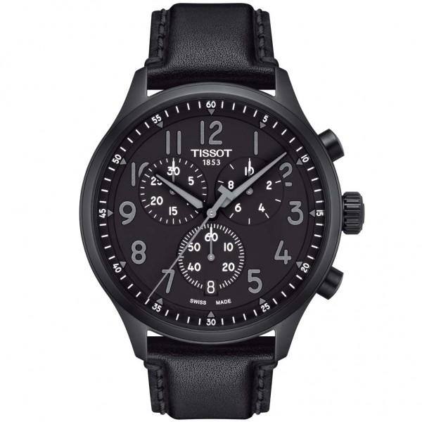 TISSOT T-Sport Chrono XL Vintage Black Leather Strap T1166173605200
