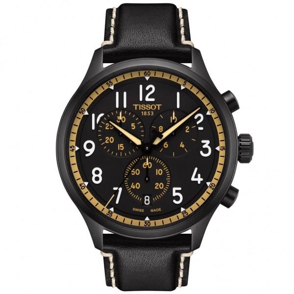 TISSOT T-Sport Chrono XL Vintage Black Leather Strap T1166173605202