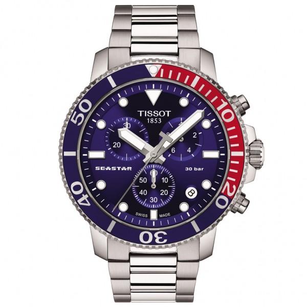 TISSOT T-Sport Seastar 1000 Chrono Silver Stainless Steel Bracelet T1204171104103
