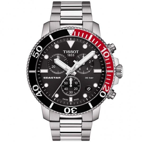 TISSOT T-Sport Seastar 1000 Chrono Silver Stainless Steel Bracelet T1204171105101