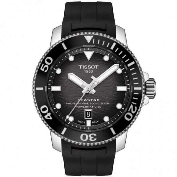 TISSOT T-Sport Seastar 2000 Professional Powermatic 80 Black Rubber Strap T1206071744100